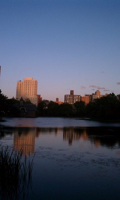 Evening Sky Over The Meer in Central Park
