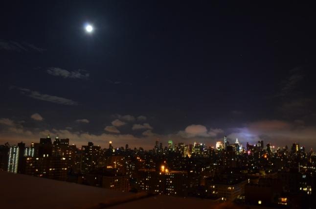 Supermoon Over Manhattan