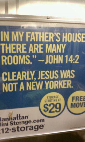 Manhattan Mini Storage Subway Advertisement