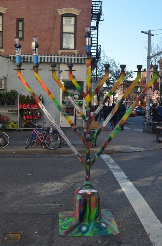 Large Brooklyn Menorah
