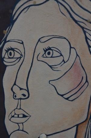 Face Artwork in Williamsburg Brooklyn