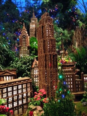 Holiday Train Show NYC Skyline