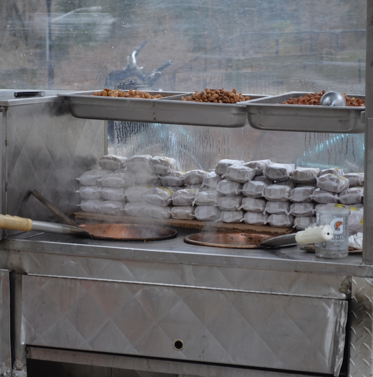 Sweet and Salty Nut Vendor in Central Park