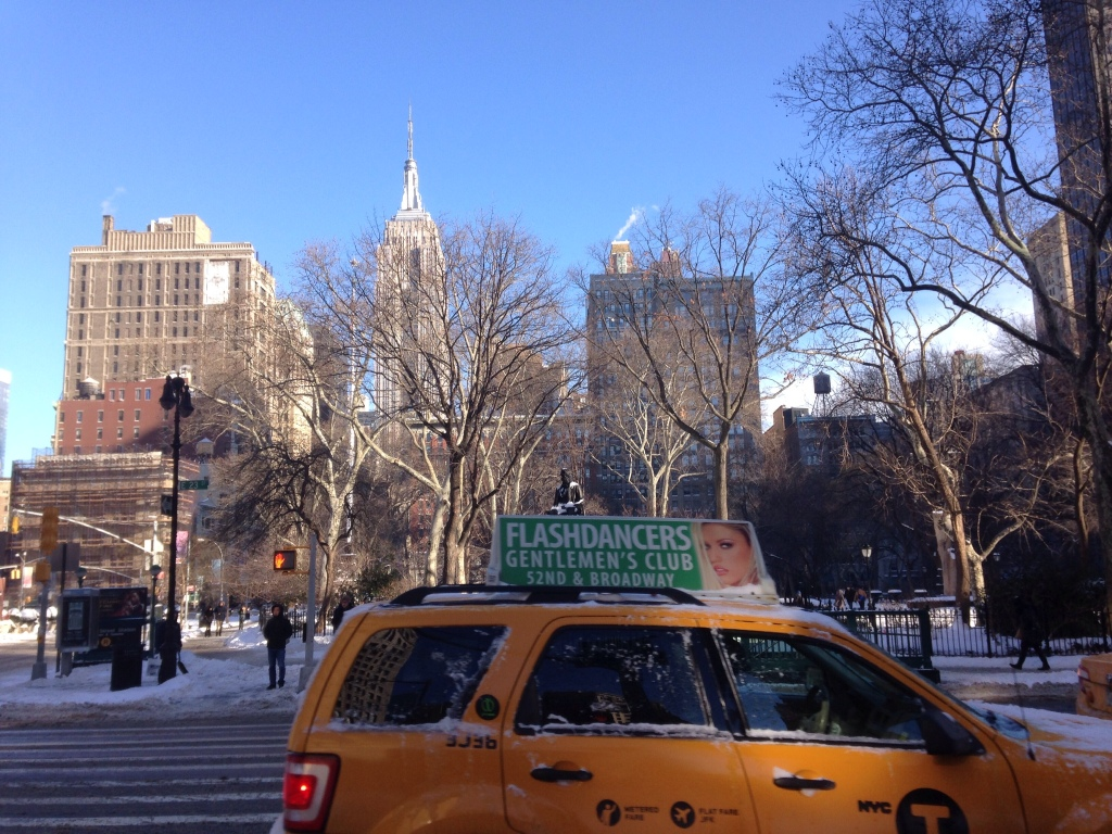 Madison Square Park and the Empire State Building in January