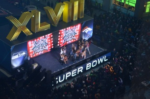 Rock of Ages Finale in Times Square on Super Bowl Boulevard