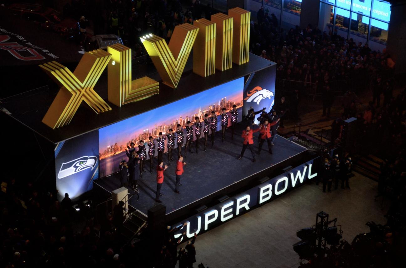 Super Bowl 48 in Times Square