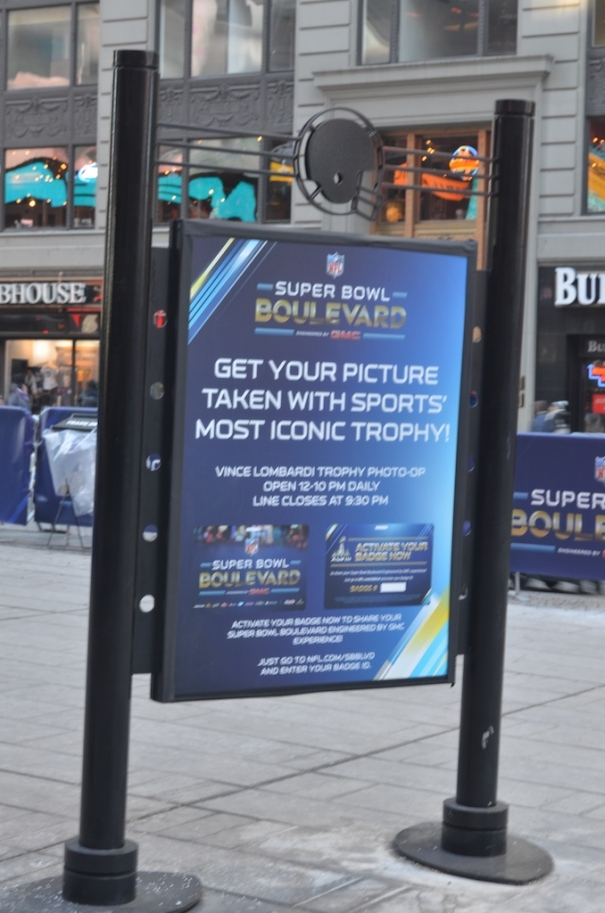 Vince Lombardi Trophy Sign