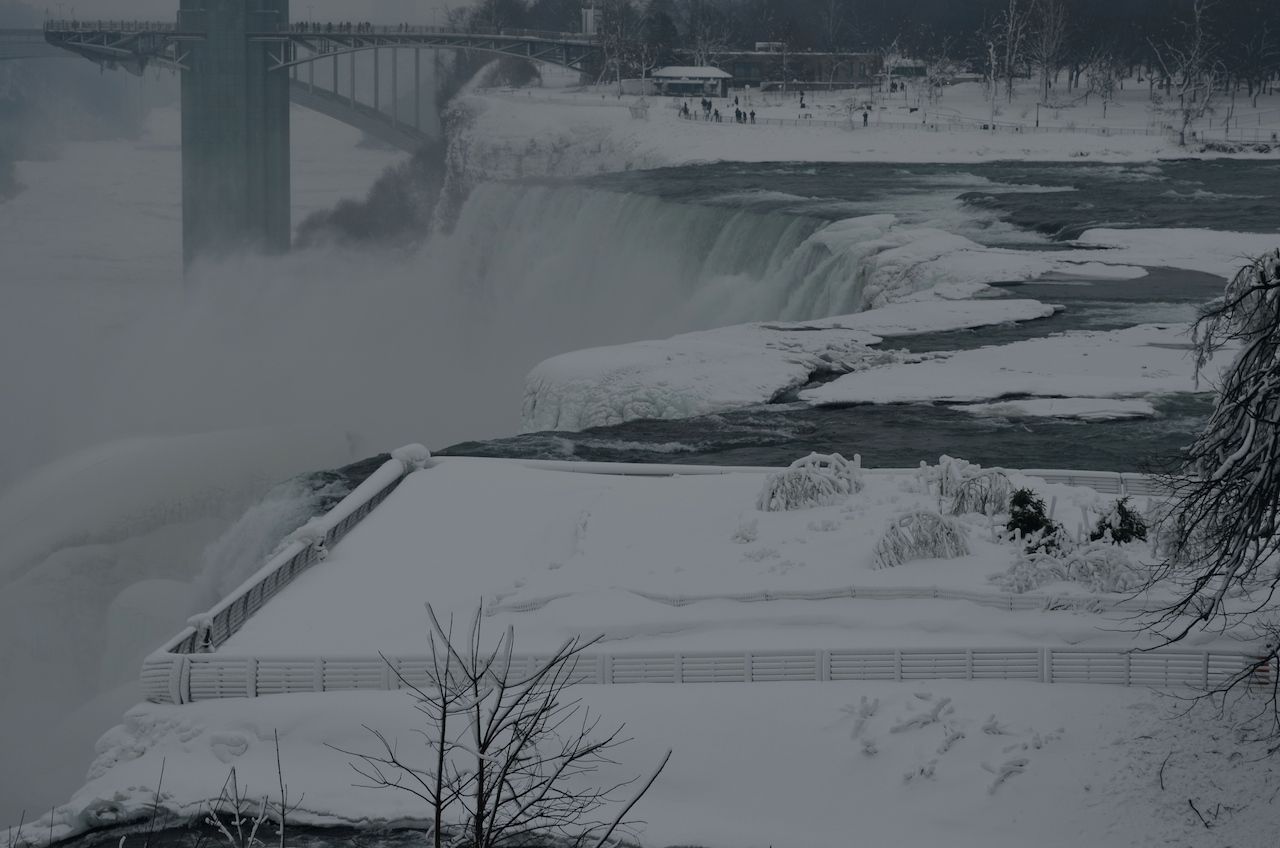 Icy American Falls