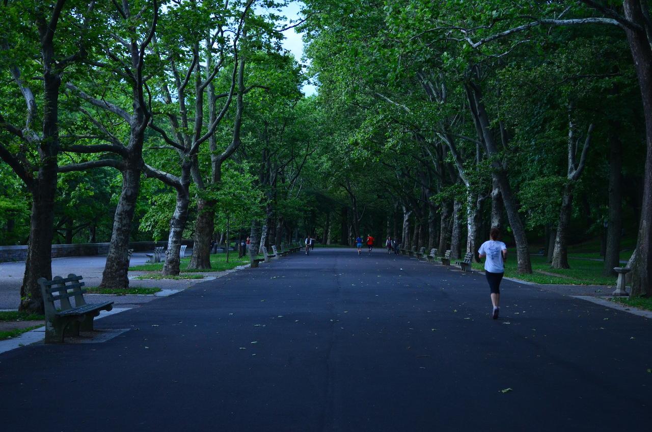 Jogging Through Riverside Park
