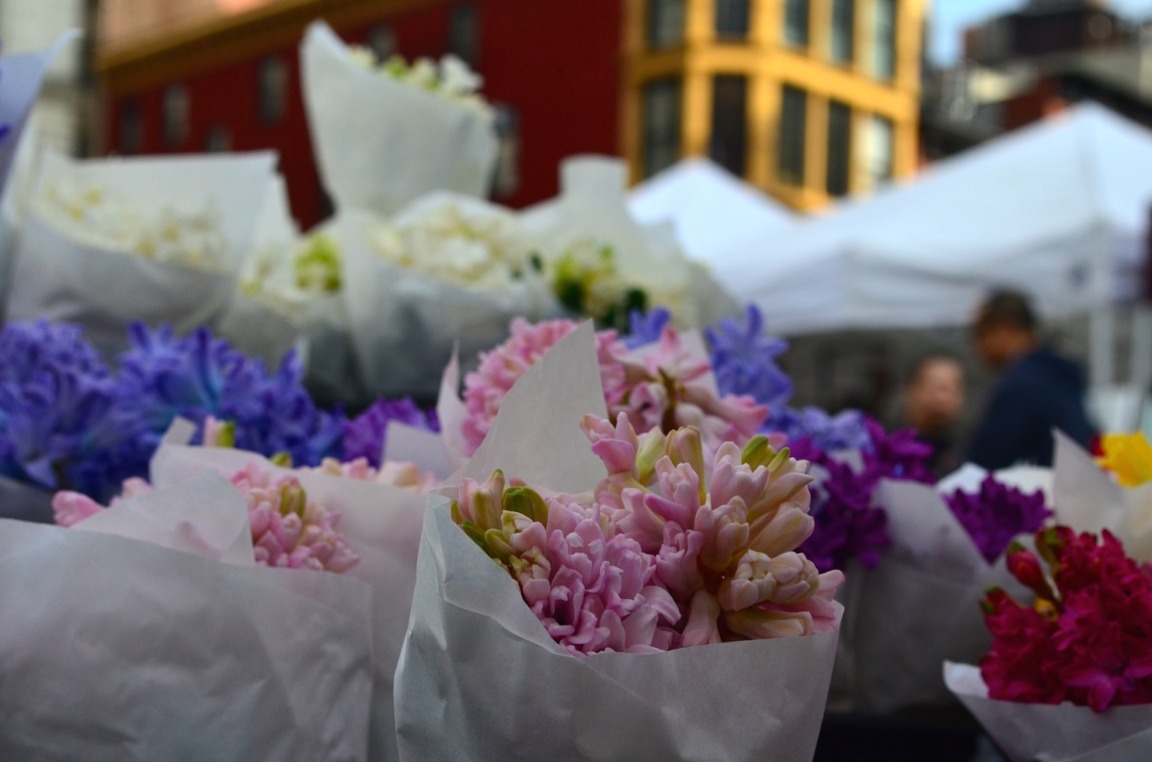 New York City Farmer's Market Flowers