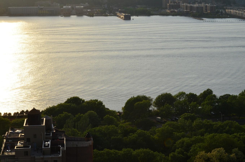Hudson River At Sunset
