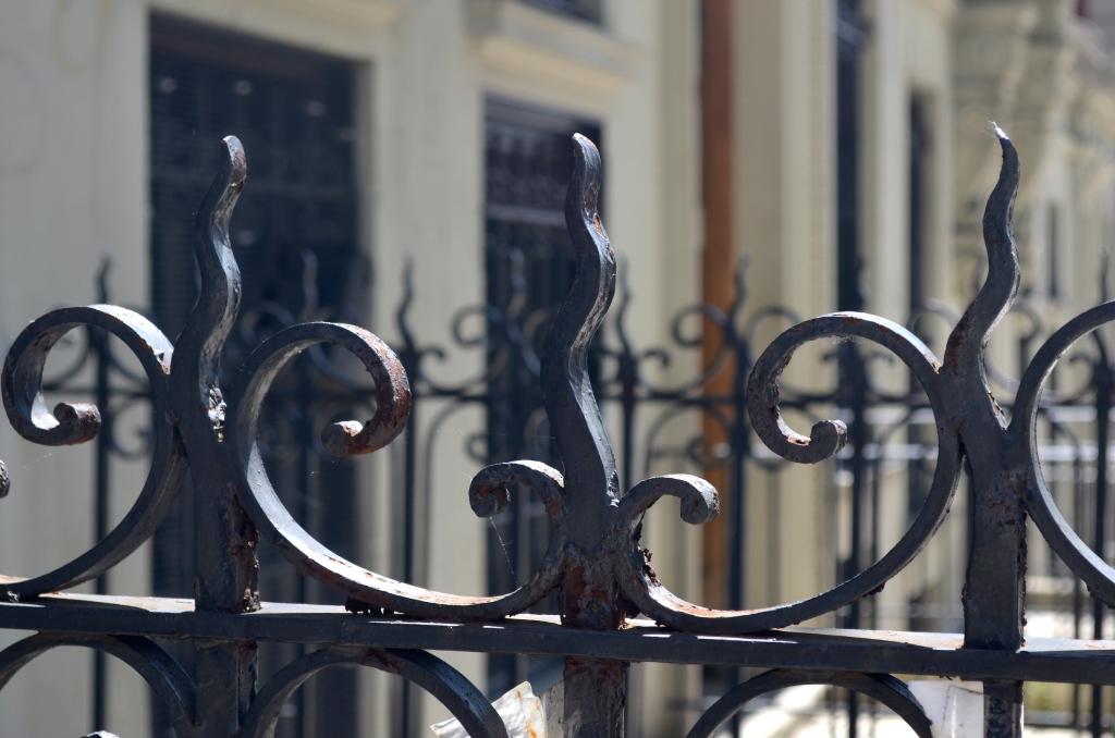 Iron Fence In Hamilton Heights Manhattan