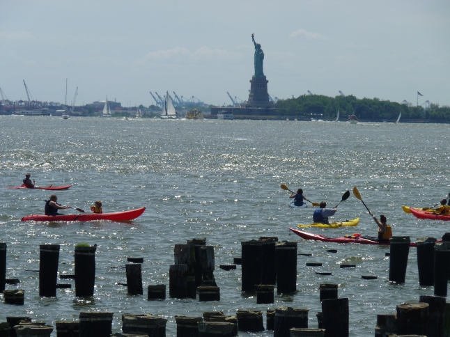Kayaking And The Statue Of Liberty
