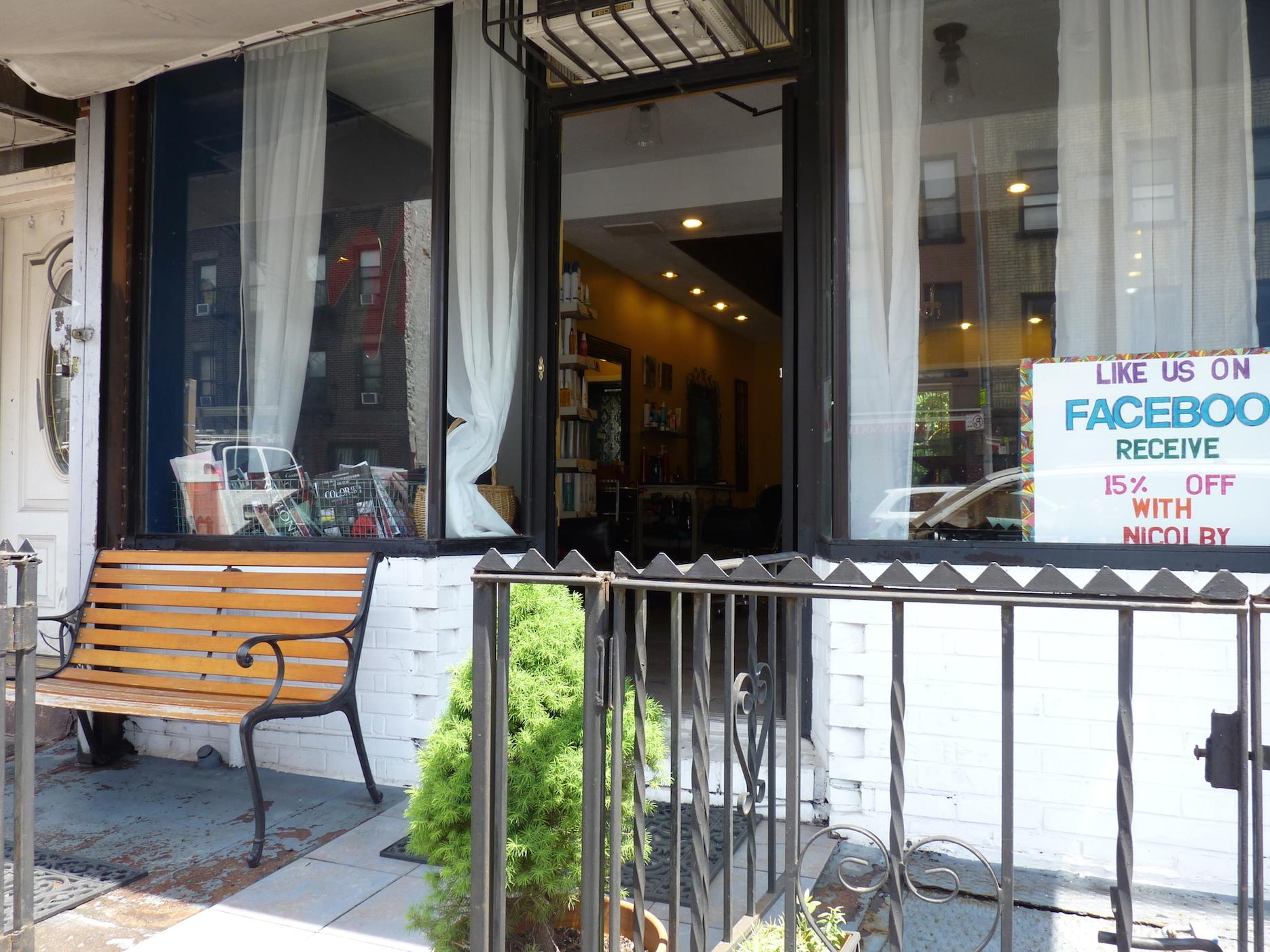 Outside Le Petit Chandelier Hair Salon In Gowanus Brooklyn – Full