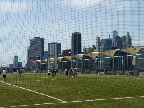 Soccer In Brooklyn Bridge Park