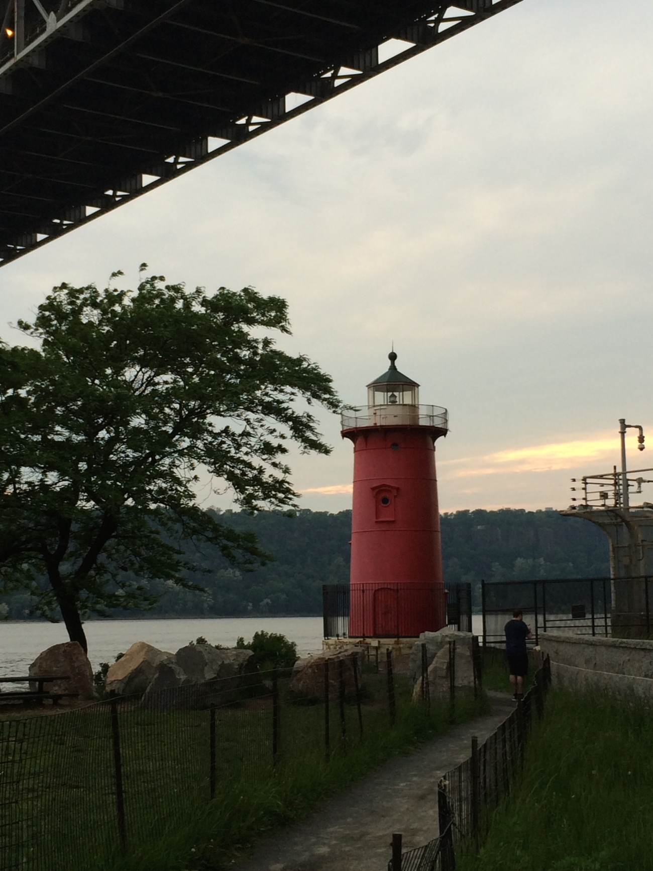 The Little Red Lighthouse At Sunset