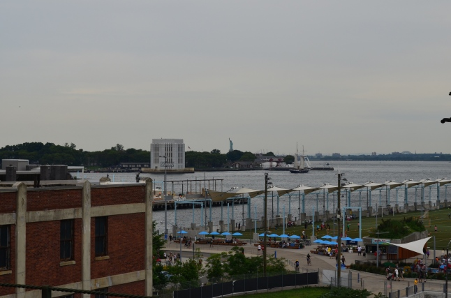 View of Statue of Libery from Brooklyn Heights