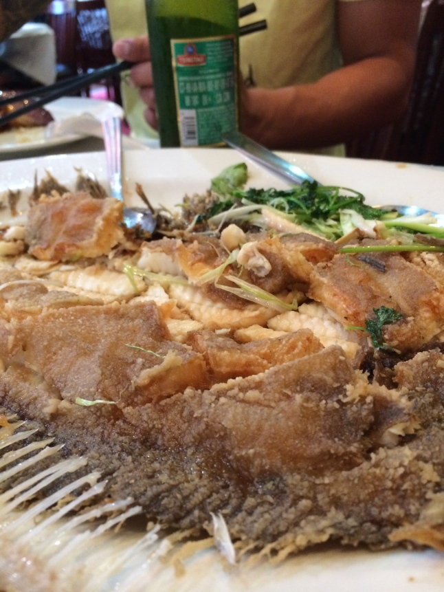 Whole Fried Flounder