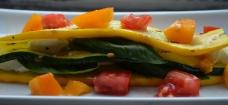 Zucchini Caprese Salad with Heirloom Tomatoes