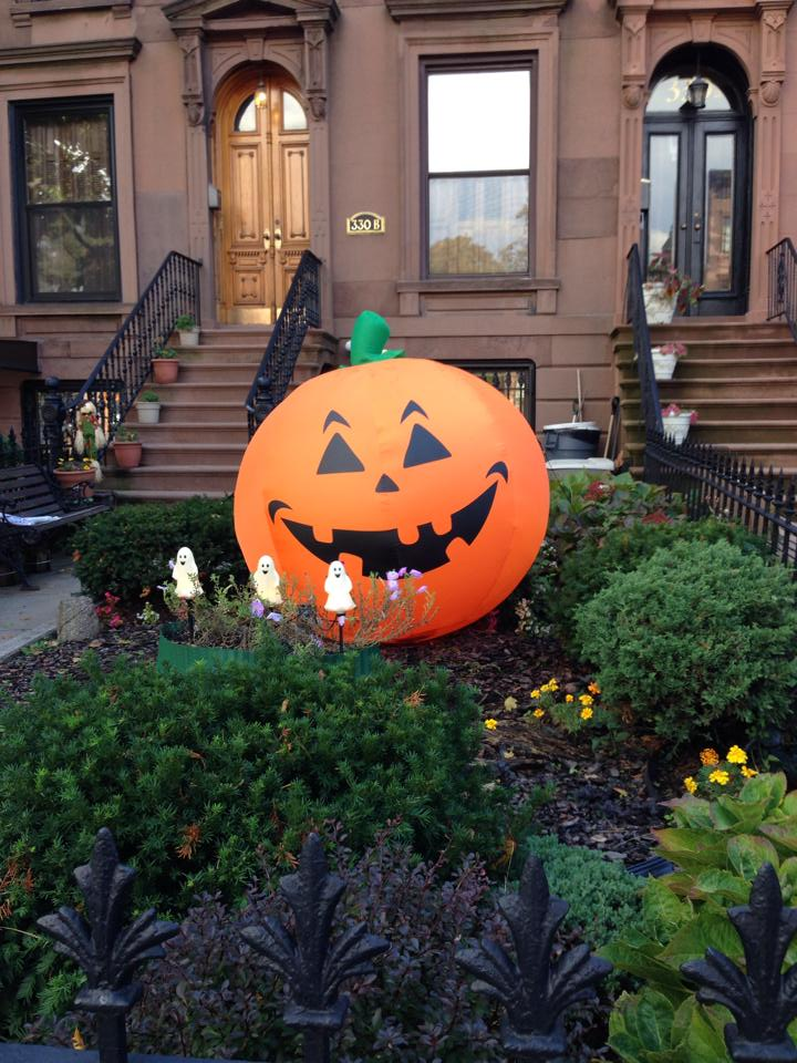 Giant Pumpkin Halloween in Carroll Gardens