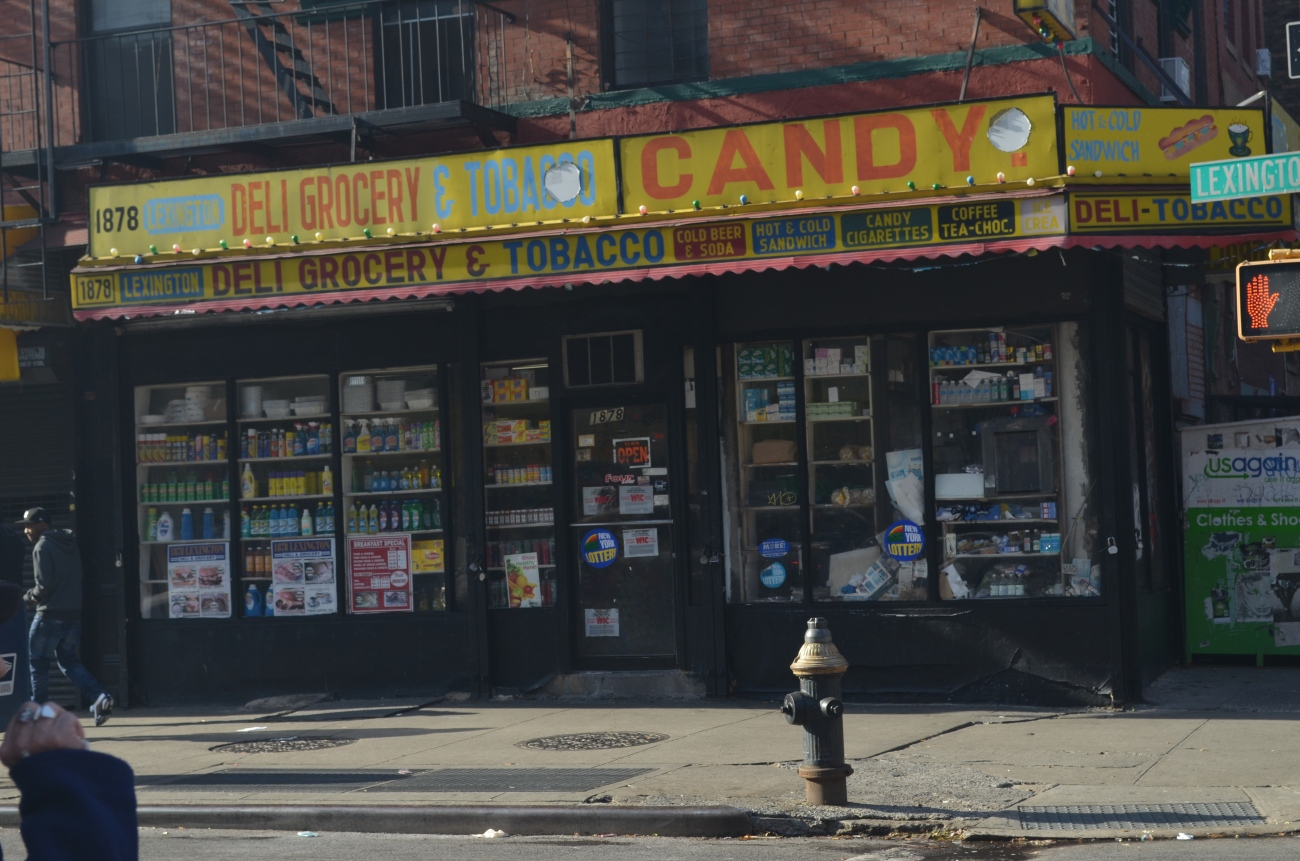Tobacco and Candy Store in East Harlem NYC