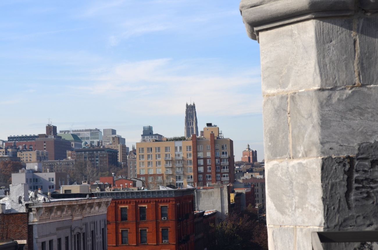 View of Riverside Church from Harlem