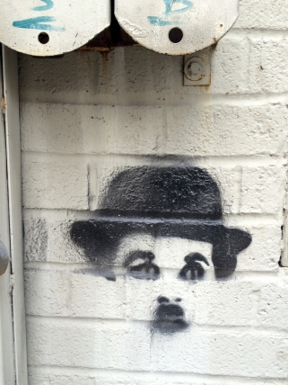 Charlie Chaplin Street Art in Williamsburg Brooklyn