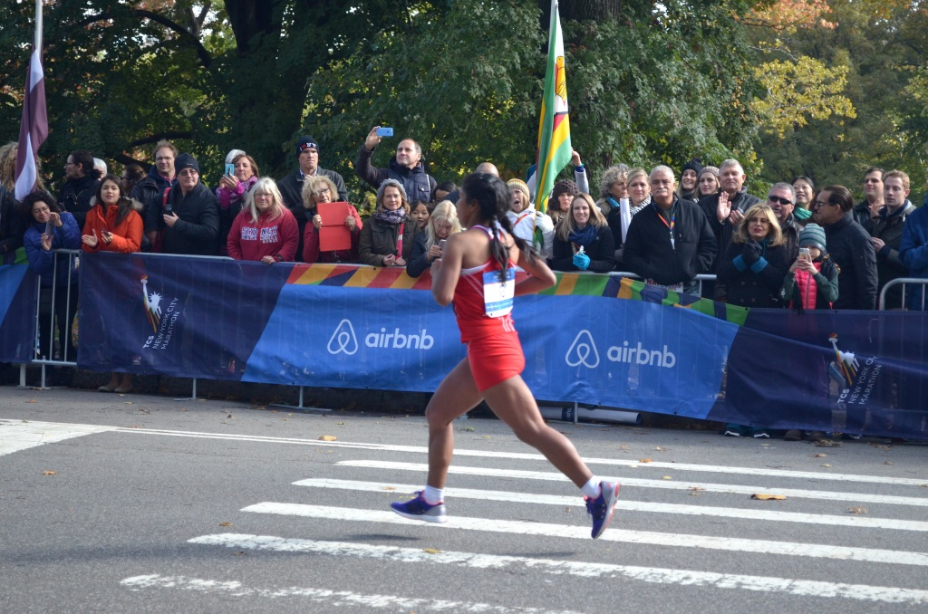 Female runner at the New York City Marathon