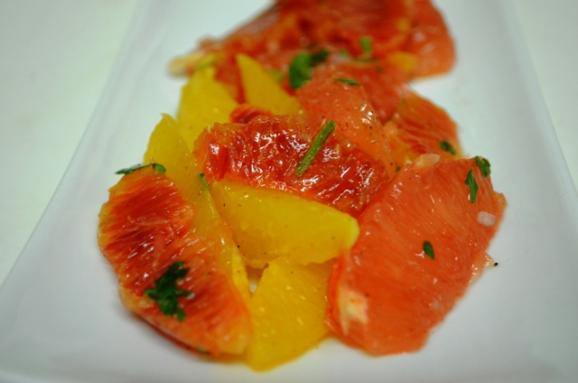Blood Orange, Ruby Red Grapefruit, Navel Orange and Lime