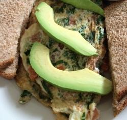 Vegetarian Egg White Omelette at Astor Row Cafe
