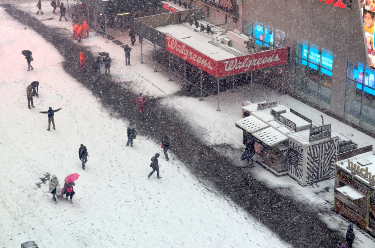 Winter in Times Square