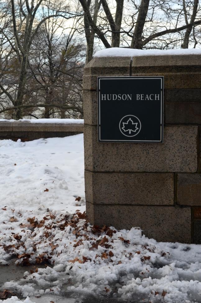Hudson Beach in the Winter