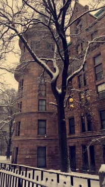 New York Brick Apartment Building