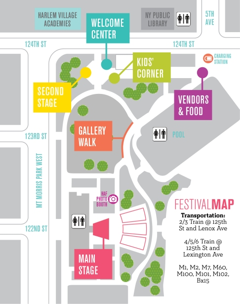 Map Copyright: Harlem Arts Festival