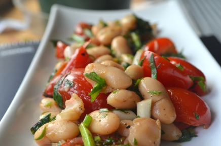 Canellini Bean and Ramp Salad