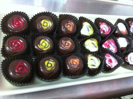 Hand Painted Chocolate Bonbons at Chocolat Moderne