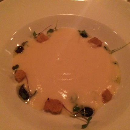 Parsnip and White Chocolate Soup