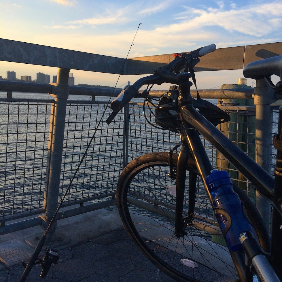 Bike Riding and Fishing in the Hudson