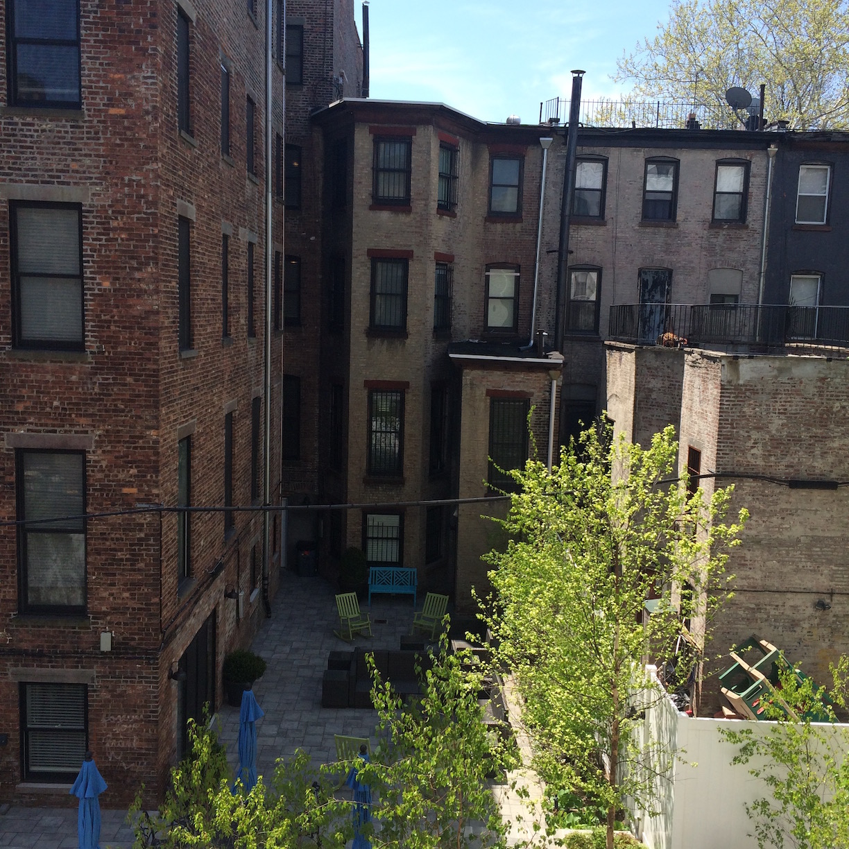 Back of Harlem Brownstones