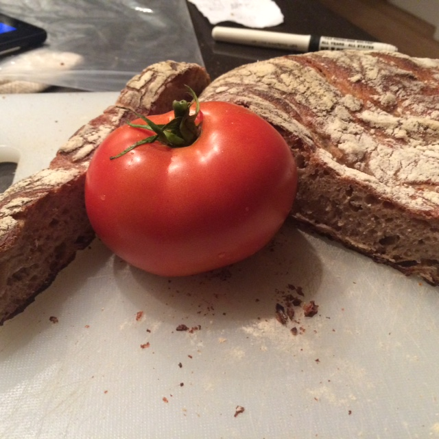 Harlem Grown Tomato and Harlem Baked Sourdough Bread