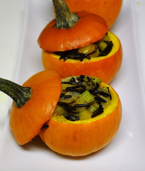 roasted-mini-pumpkins-with-wild-rice-stuffing