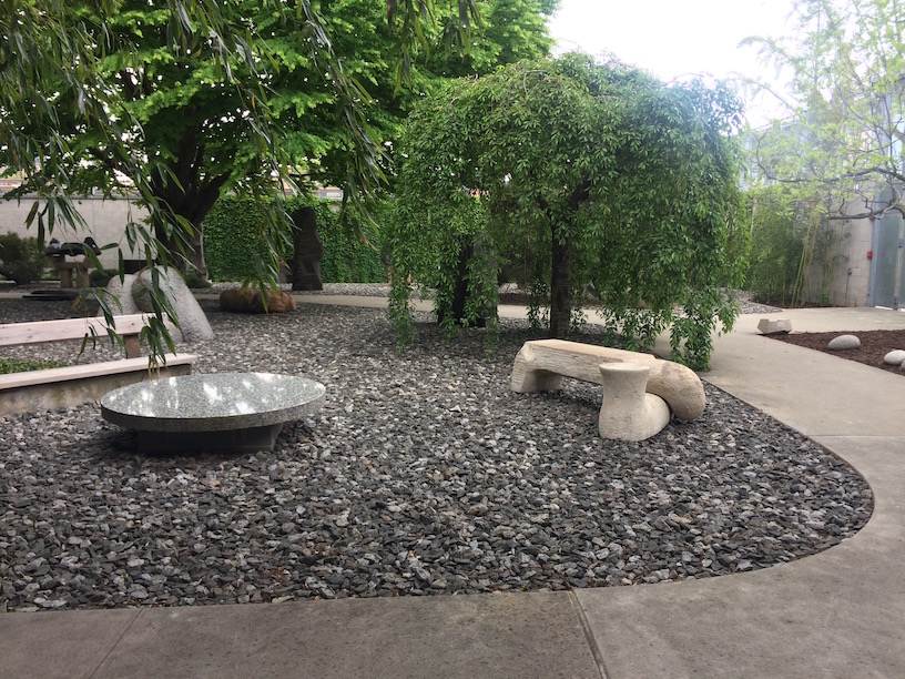 Outdoor Courtyard at Noguchi Museum