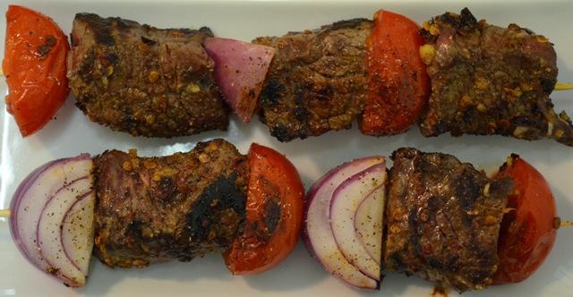 Morita Chili Pepper Beef Kabobs