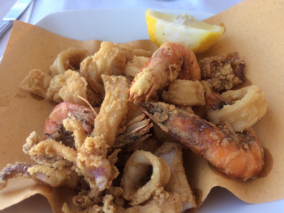 Basket of Fried Fish in Otranto Italy