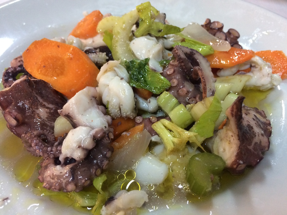 Octopus Salad in Souther Italy