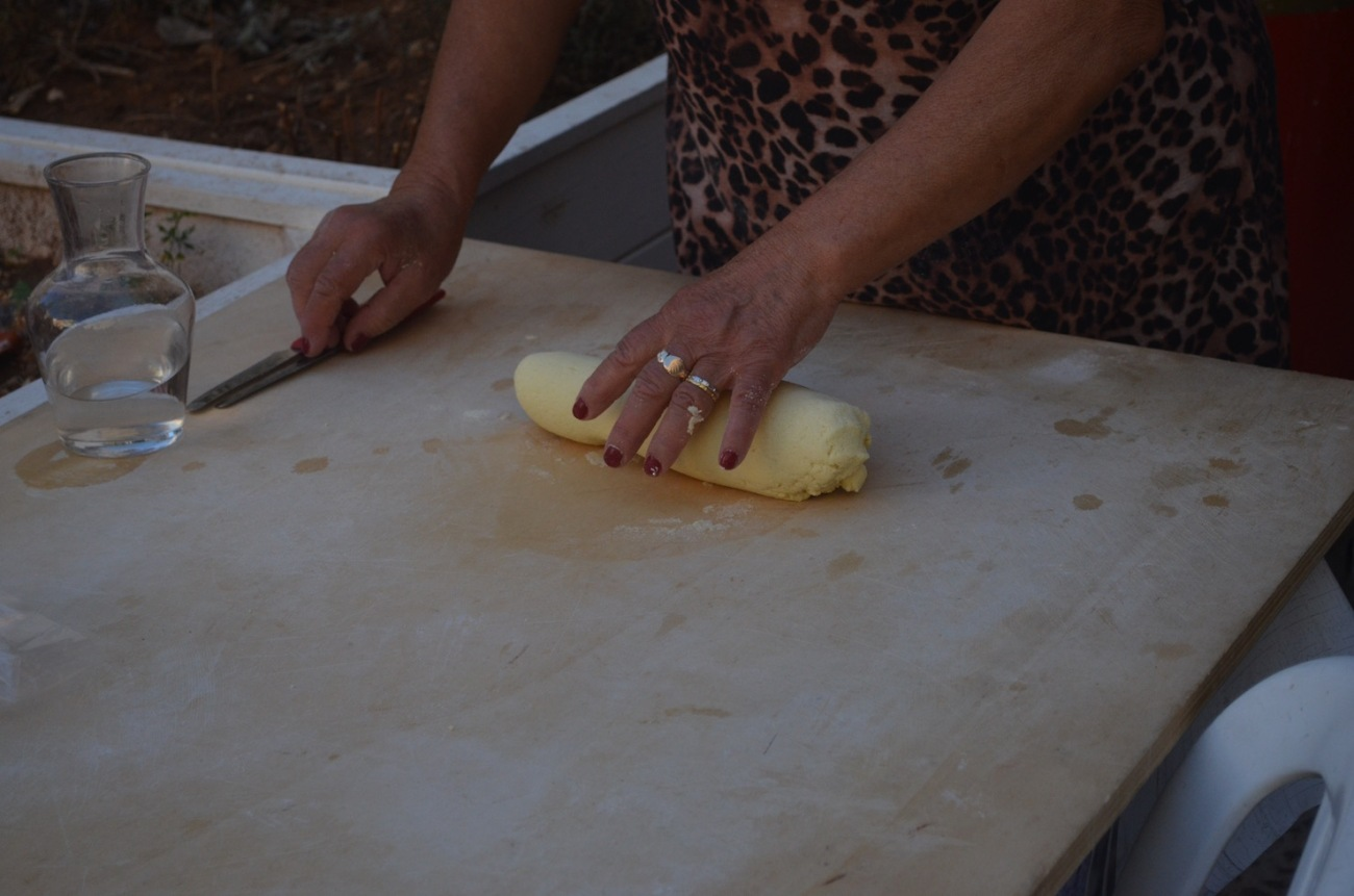 Rolling Orecchiette Pasta Dough