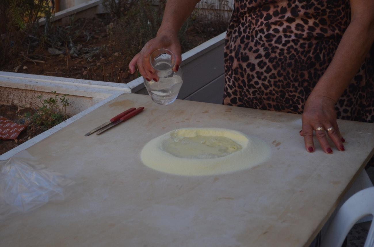Semolina and Water for Orecchiette Pasta
