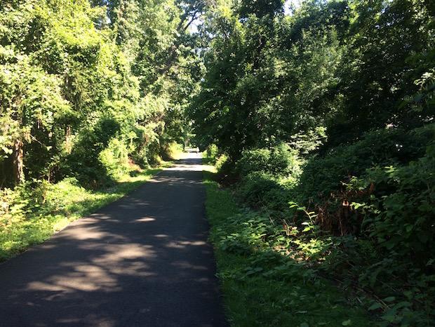 Biking the South County Trailway