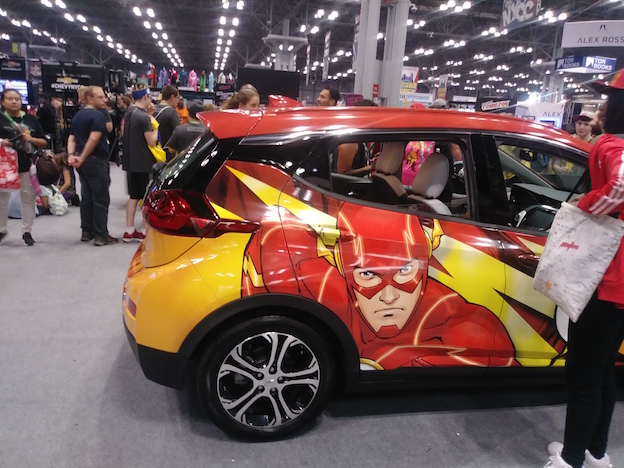 The Flash Car at New York Comic Con