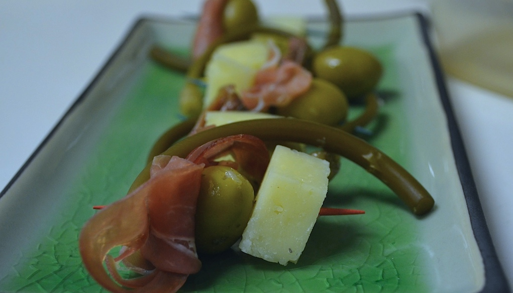 Prosciutto and Picked Ramp Appetizer